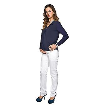 Straight Leg Maternity Trousers - White