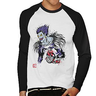 Death Note Shinigami Men's Baseball Long Sleeved T-Shirt