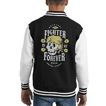 Combattente per sempre Ken Varsity Jacket Masters Street Fighter capretto