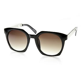 High Fashion Metal Temple Square Frame Womens Cat Eye Sunglasses