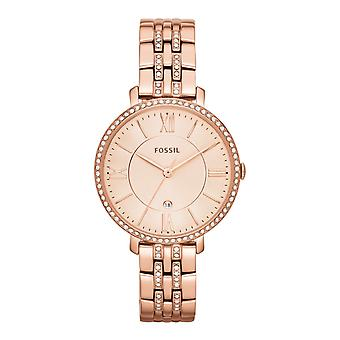 Fossil ladies watch wristwatch slim stainless steel Rosé ES3546 Jacqueline