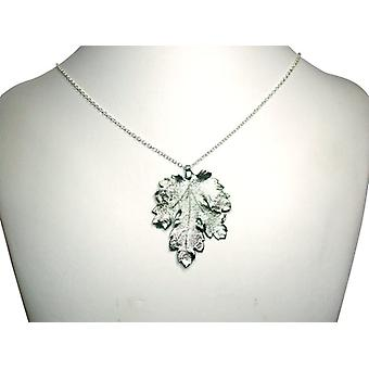Chrysanthemum silver leaf chain Chrysanthemblatt necklace 925 Silver