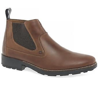 Rieker Richard Mens' Brown Leather Ankle Boots 36062