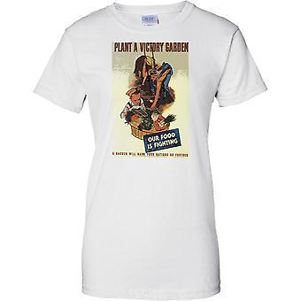 Plant a Victory Garden - WW2 Propaganda - Allied World War - Ladies T Shirt