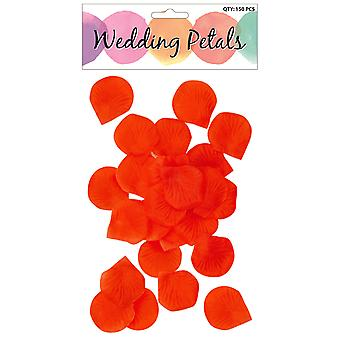 Pack of 150 Fabric Rose Petals Great For Valentines Wedding Table Decoration