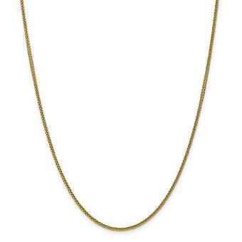 14k geel gouden holle gepolijst lichtgewicht Lobster Claw sluiting tarwe Chain ketting - lengte: 16 tot 24