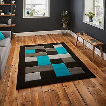 Rugs -Mantra MT04 - Black / Blue
