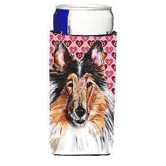 Collie Hearts and Love Ultra Beverage Insulators for slim cans
