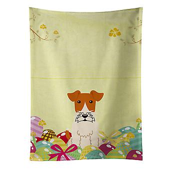 Carolines Treasures  BB6101KTWL Easter Eggs Wire Fox Terrier Kitchen Towel