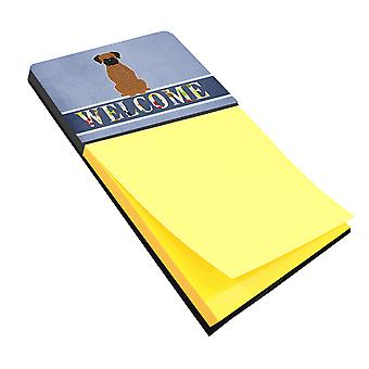 Carolines Treasures  BB5698SN Brindle Boxer Welcome Sticky Note Holder