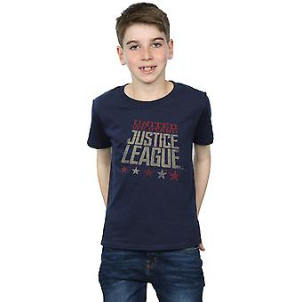 DC Comics Boys Justice League film Unito We Stand t-shirt