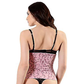 Esbelt ES449 Women's Pink Floral Firm/Medium Control Slimming Shaping Waist Cincher