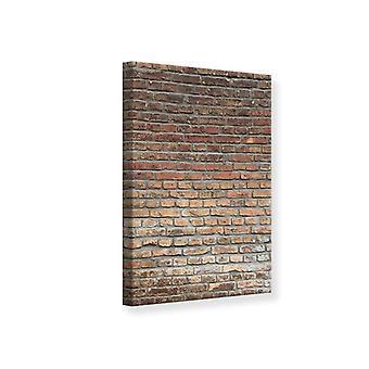 Canvas Print rode bakstenen muur