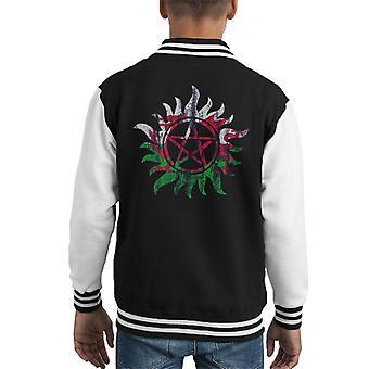 Supernatural Welsh Anti Possession Kid's Varsity Jacket