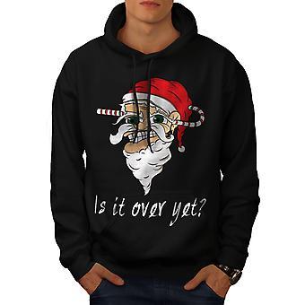 Over yet Santa Christmas Men BlackHoodie | Wellcoda