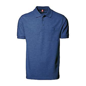 ID Mens Pro Wear Short Sleeved Polo Shirt With Pocket