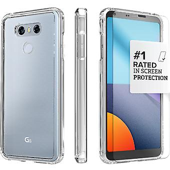 SaharaCase® LG G6 caja de cristal, paquete de Kit de protección transparente con ZeroDamage® vidrio templado
