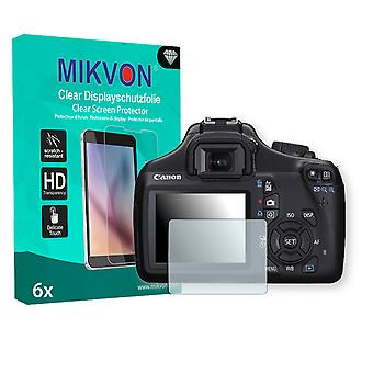 Canon EOS Rebel T3 Screen Protector - Mikvon Clear (Retail Package with accessories)