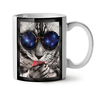 Space Sunglasses Cute NEW White Tea Coffee Ceramic Mug 11 oz | Wellcoda