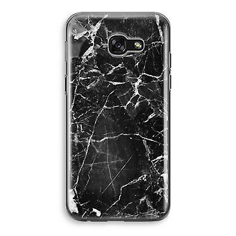 Samsung Galaxy A5 (2017) Transparent Case (Soft) - Black Marble 2