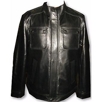 Mens Stefans Rugged Sheep Leather Jacket