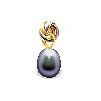 Pendant Pearl Culture in fresh water black and gold 750/1000 3