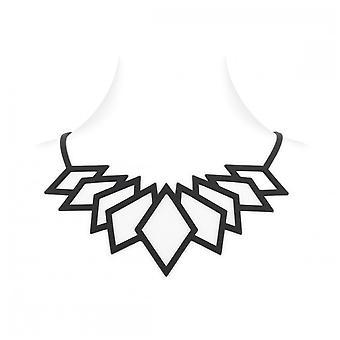 Diamant Halskette Silikon schwarz Tattoo-Effekt