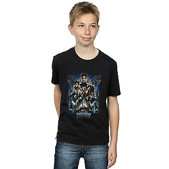 Marvel Boys Black Panther Movie Poster T-Shirt