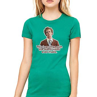 Napoleon Dynamite Worst Video Women's Kelly Green Funny T-shirt
