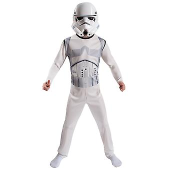 Stormtrooper Star Wars Movie Disney Licensed Boys Costume Mask Kit M 8-10