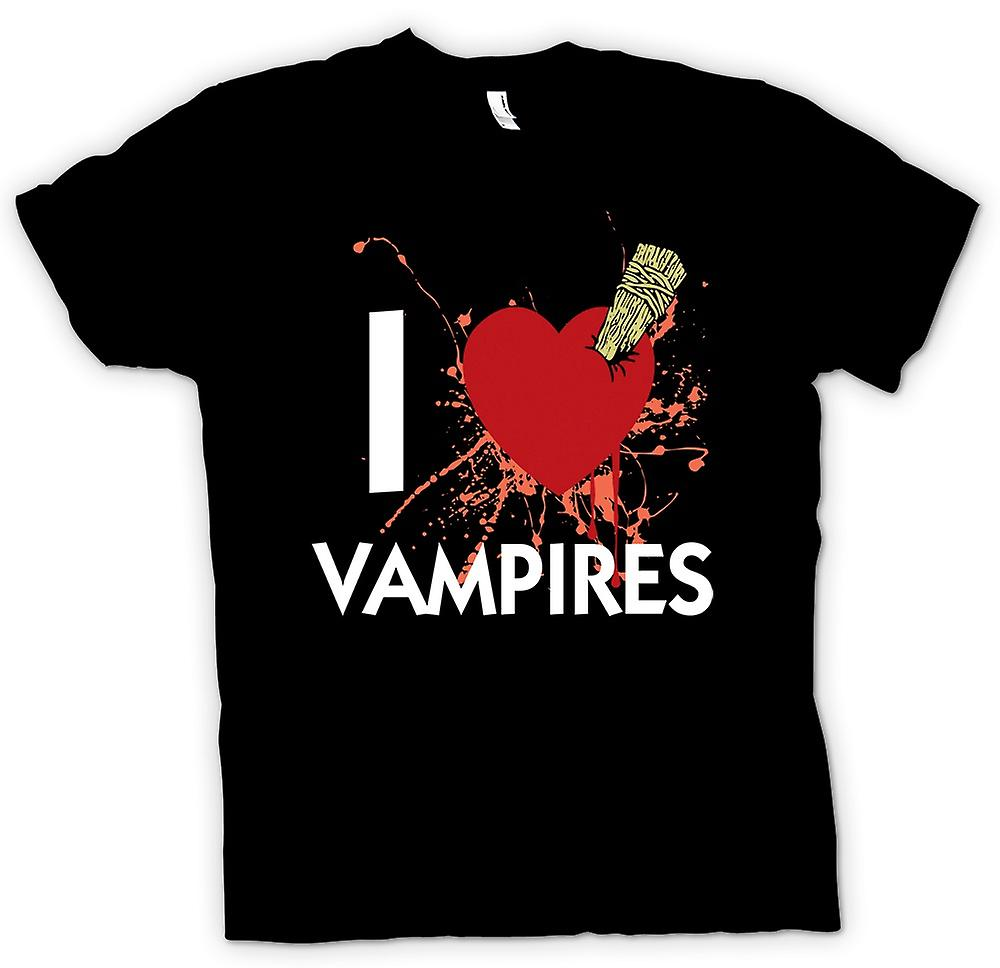 Mens t-shirt - amo vampiri - divertente