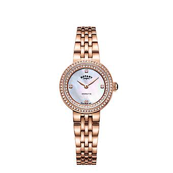 Rotary Womens Kensington Crystal Rose Gold Bracelet LB05374/41 Watch