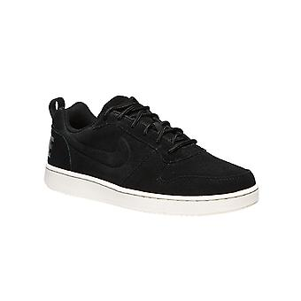 NIKE leather sneaker Court Borough low Prem black