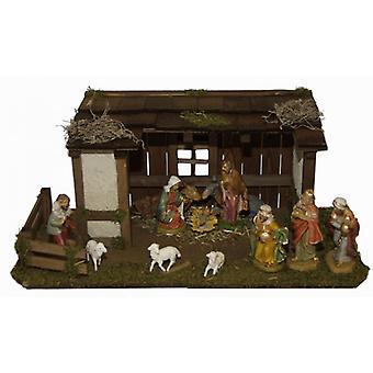Voederbak Travis houten wieg Nativity kerst geboorte stabiel