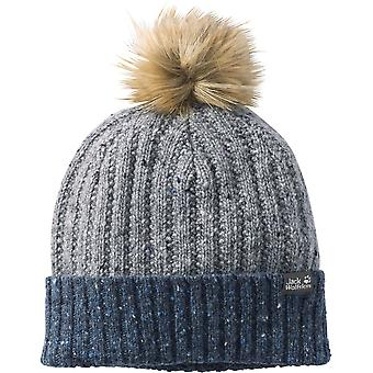 Jack Wolfskin Boys & Girls Merino Wool Faux Fur Bobble Hat Cap