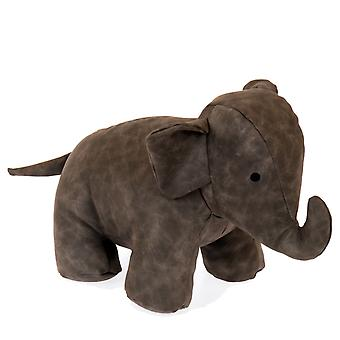Elephant leather-imitation grey doorstop 25 cm