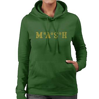 Retro-MASH Logo Frauen die Kapuzen-Sweatshirt