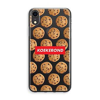 iPhone XR Transparant Case (Soft) - Koekerond