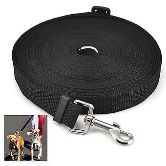 DIGIFLEX Dog Puppy Pet Training Lead 50ft Long Line Black Collar Harness
