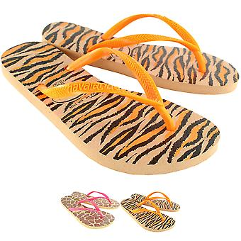 Womens Havaianas Slim Animals Fluo Flip Flop Summer Beach Sandal