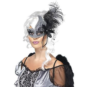 Smiffy's Masquerade Dark Angel Eyemask