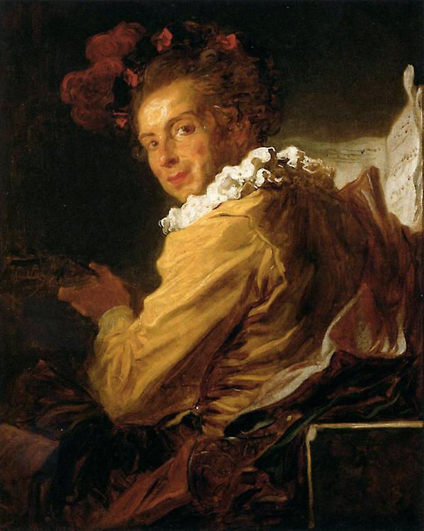 Man Playing an InstruHommest,Jean Honore Fragonard,65x80cm