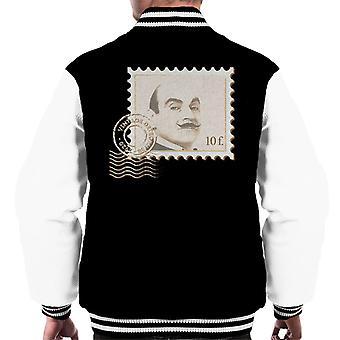 Poirot Stamp Vintage Detective Men's Varsity Jacket