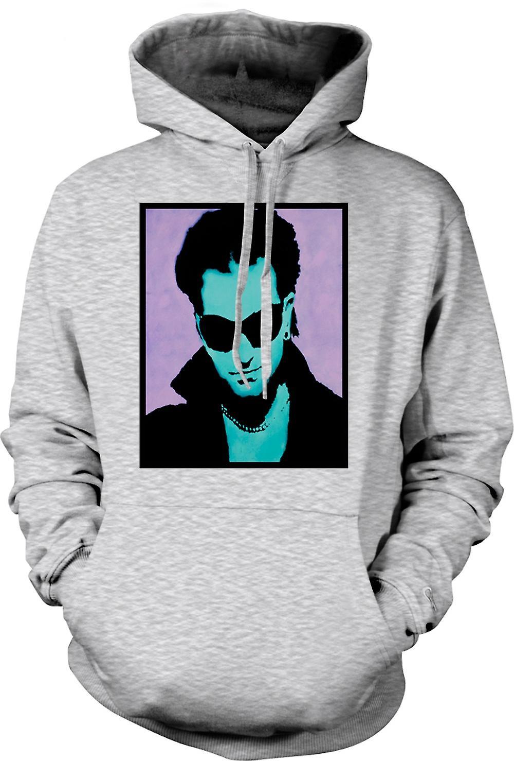 Para hombre con capucha - U2 - Bono - Pop Art