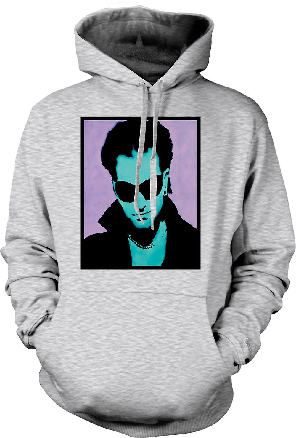Mens Hoodie - U2 - Bono - Pop Art