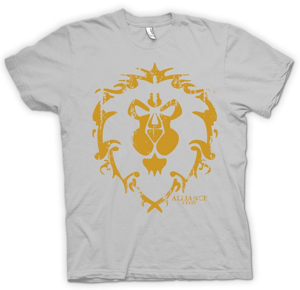 Mens t-skjorte - Alliansen Crest Logo - World Of Warcraft inspirert