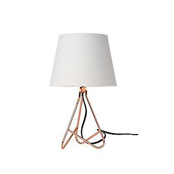 Lámpara de tabla de Lucide Gitta moderno redondo Metal cobre y blanco