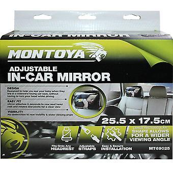 Montoya In Car Adjustable Baby Mirror, 25.5 cm x 17.5 cm Wider Viewing