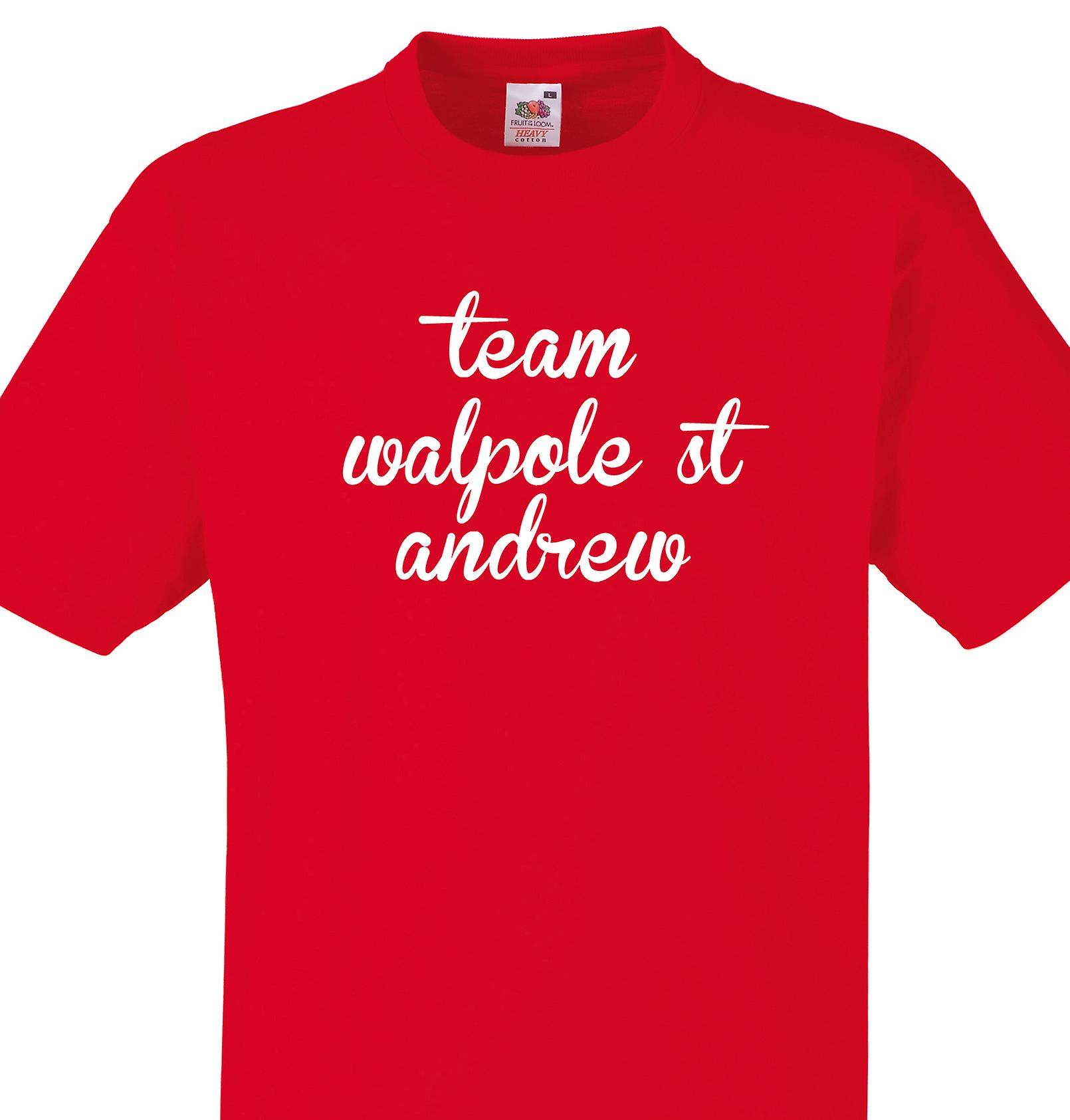 Team Walpole st andrew Red T shirt