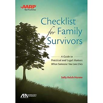 Checklist for Family Survivors: A Guide to Practical and Legal Matters When Someone You Love Dies [With CDROM]
